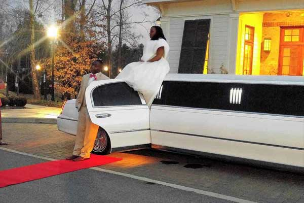 Couple with Limo